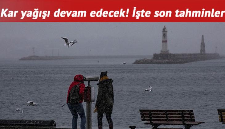 İstanbul'da kar yağışı ne zaman duracak, bugün hava nasıl? MGM 15 Şubat il il hava durumu tahminleri!