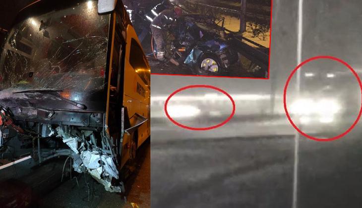 Bursa'da otoyolda feci kaza! Ters yönde hız yapıp otobüsle çarpıştılar: 2 ölü, 10 yaralı
