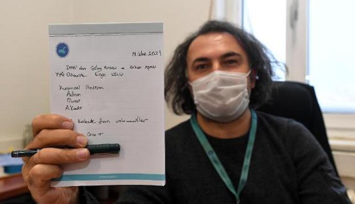 Koronavirüsten sonra görüştüğü herkesi not alıyor!