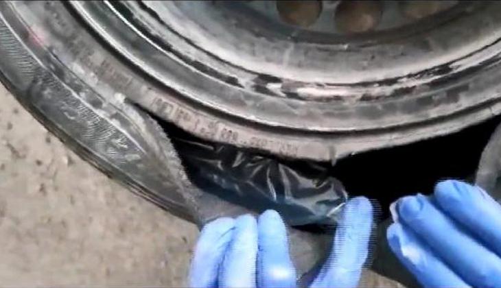 Bursa'da operasyon! Otomobil lastiğinden 1 kilo kokain çıktı