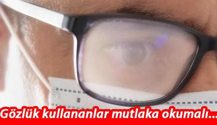 Çarpıcı koronavirüs araştırması: Gözlük kullananlar üç kat şanslı!
