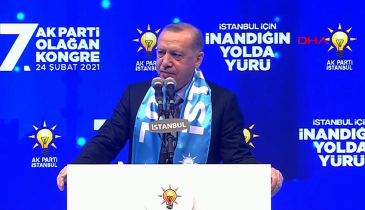 Cumhurbaşkanı Erdoğan, AK Parti İstanbul İl Kongresi'nde konuşuyor