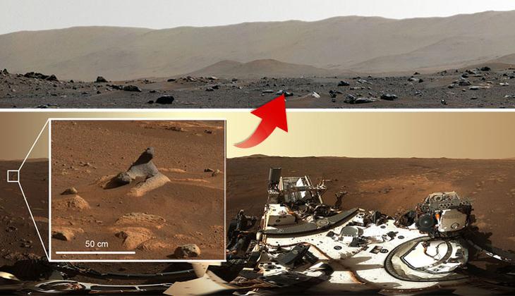 Mars'tan inanılmaz görüntü! Keşif aracı kaydetti…