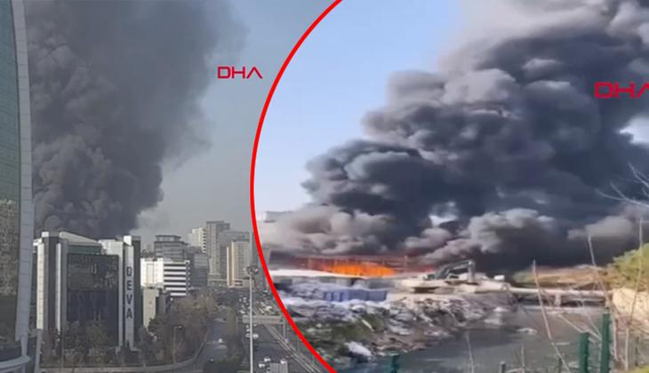İstanbul'da feci yangın! Kilometrelerce öteden görünüyor