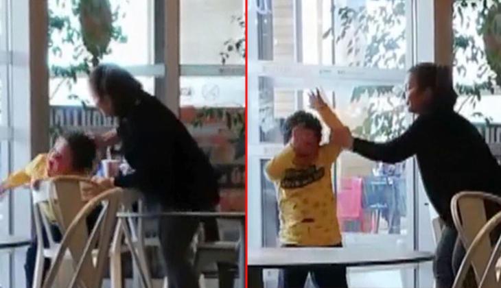 Ankara'da şoke eden görüntü! Acımasızca dövdü, sosyal medyada tepki yağdı