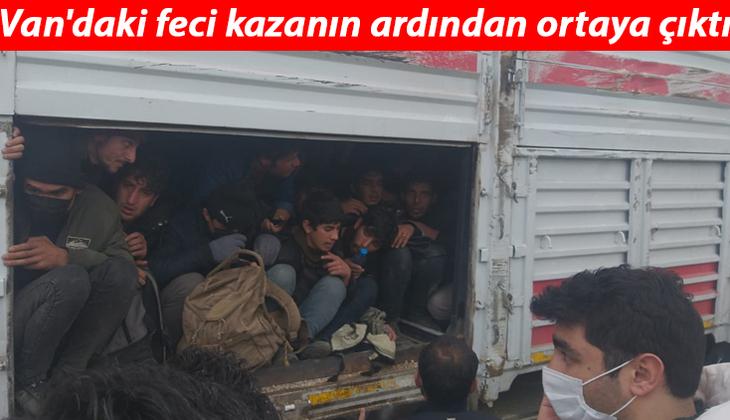 Van'daki feci kazanın ardından ortaya çıktı! TIR'dan gelen sesler üzerine arama yapıldı, 114 kaçak göçmen bulundu