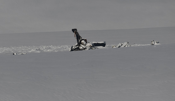 Bitlis'te düşen helikopterin enkazından ilk görüntü