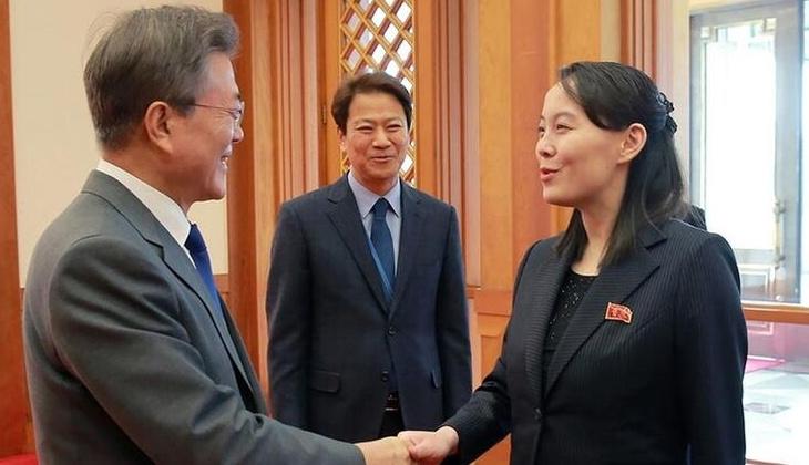 """Kuzey Kore liderinin kız kardeşi Kim'den, Güney Kore Devlet Başkanı'na ABD'nin """"papağanı"""" benzetmesi"""