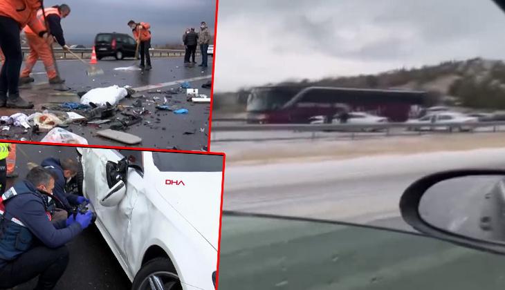 Son dakika... Ankara'da TEM otoyolunda zincirleme kaza! 4 ölü, 5 yaralı