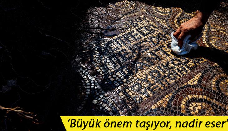 İzmir'de 1500 yıllık mozaik bulundu! 'Ulaşılması çok zor bir bölge'