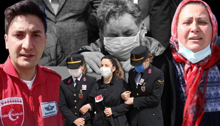 Şehit Pilot Yüzbaşı Burak Gençcelep'a acı veda