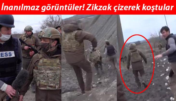 Son dakika haberi: Ukrayna Devlet Başkanı Zelensk'nin cephede zor anları