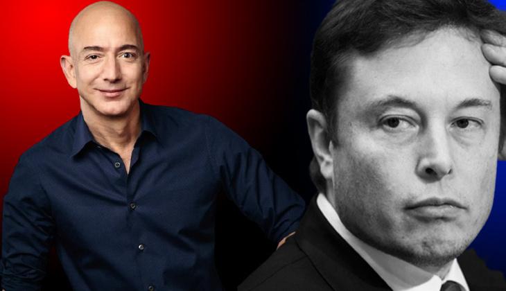 Jeff Bezos'tan Elon Musk'ı kızdıracak adım