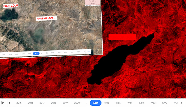 36 yılda büyük değişim! Uydu fotoğraflarında ortaya çıktı...