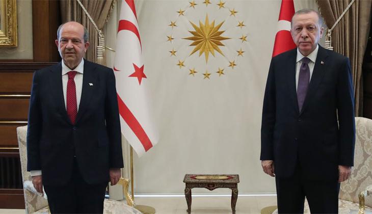 Cumhurbaşkanı Erdoğan, Ersin Tatar'ı ağırladı