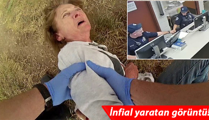 ABD'de polis şiddeti bitmiyor: Yaşlı kadını acımasızca dövdüler!