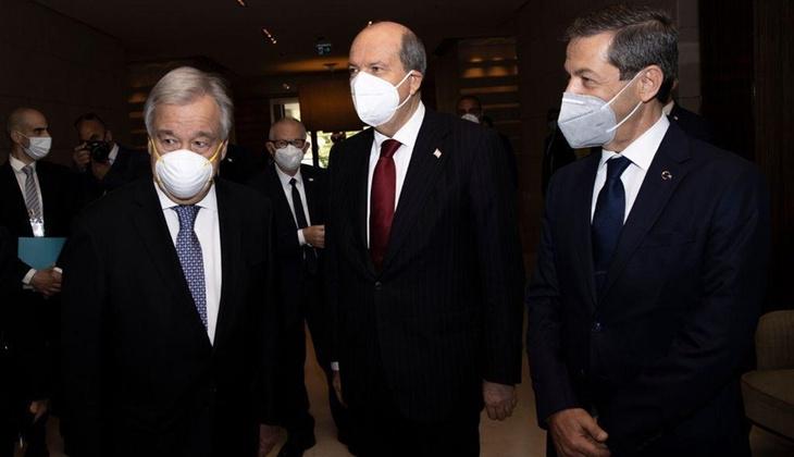Cenevre'deki 5 1 gayriresmi Kıbrıs konferansında Guterres-Tatar ikili görüşmesi sona erdi
