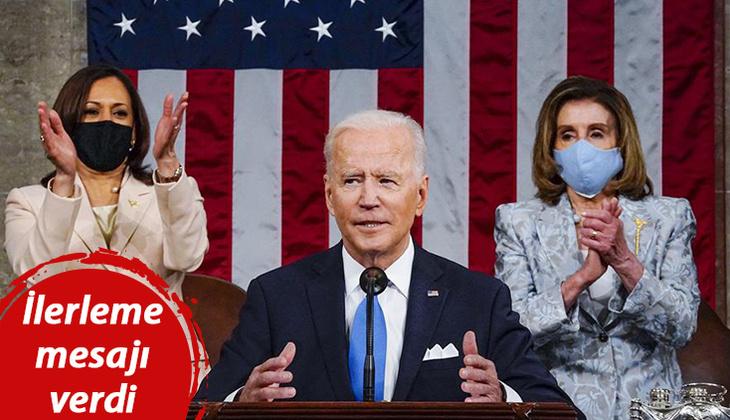 ABD Başkanı Biden Kongredeki ilk konuşmasını yaptı: Tarihe geçen detay dikkat çekti