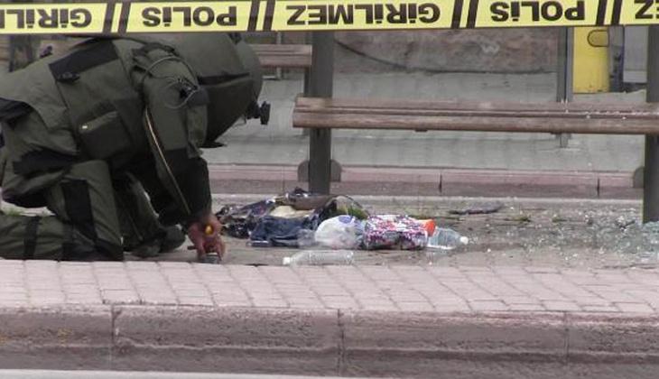 Konya'da otobüs durağında çanta paniği!