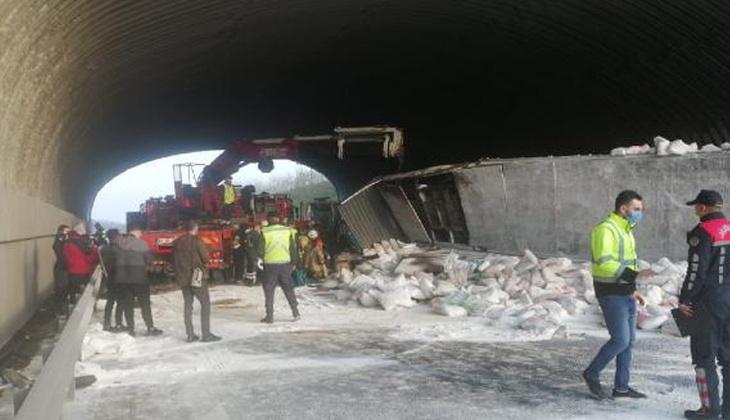 Son dakika... Kuzey Marmara Otoyolu'nda feci kaza! Edirne istikameti trafiğe kapandı