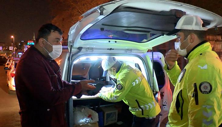 İstanbul'da tam kapanmanın ilk gecesinde ceza yağdı! Araçlar tek tek durduruldu