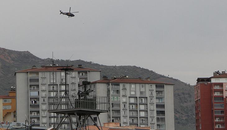 Terör örgütü PKK'ya yönelik operasyonların yürütüldüğü Şırnak'ta askeri hareketlilik