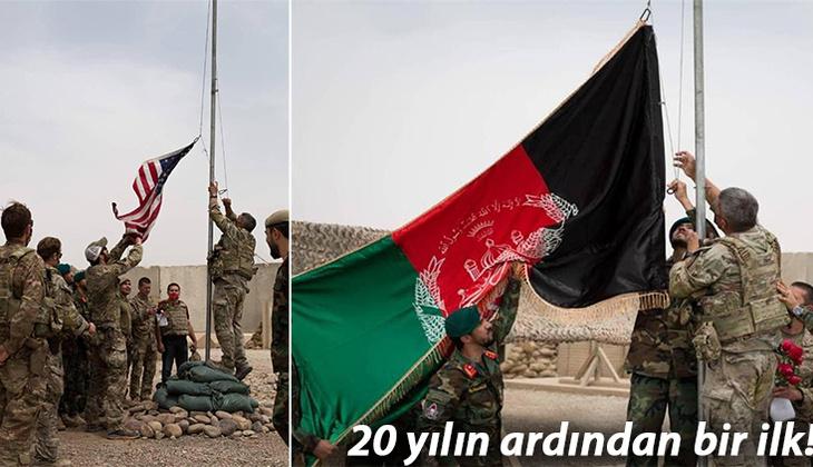 Tarihe geçen görüntü... ABD 'resmen' çekildi: Bayraklar yer değiştirdi