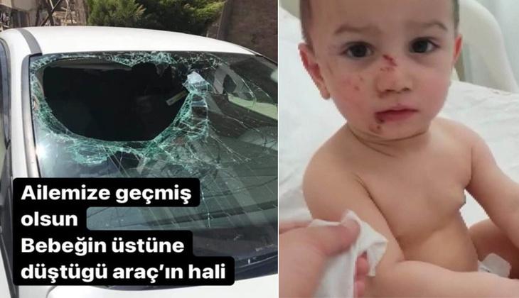 6. kattan düşen 2 yaşındaki Selim'in mucize kurtuluşu! Otomobilin ön camından koltuğun üzerine düştü