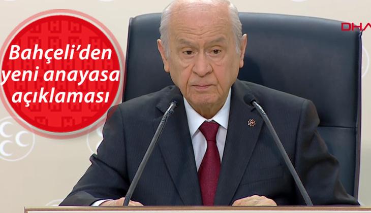Son dakika... MHP Genel Başkanı Bahçeli'den yeni anayasa açıklaması: Metin yazımı sonuçlandı