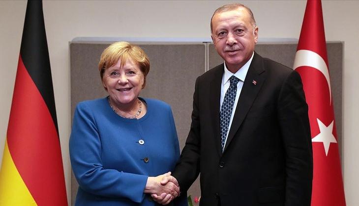 Son dakika haberi: Cumhurbaşkanı Erdoğan, Merkel ile görüştü