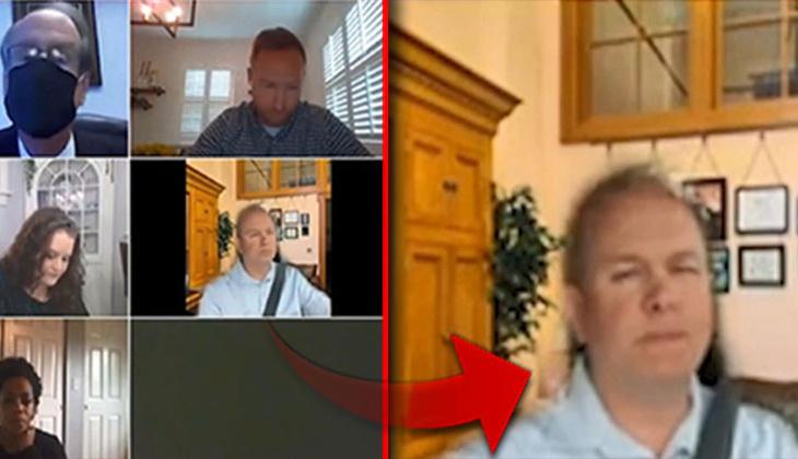 ABD'li senatörden video konferansta şaşkına çeviren yöntem! 'Başka çare yoktu'