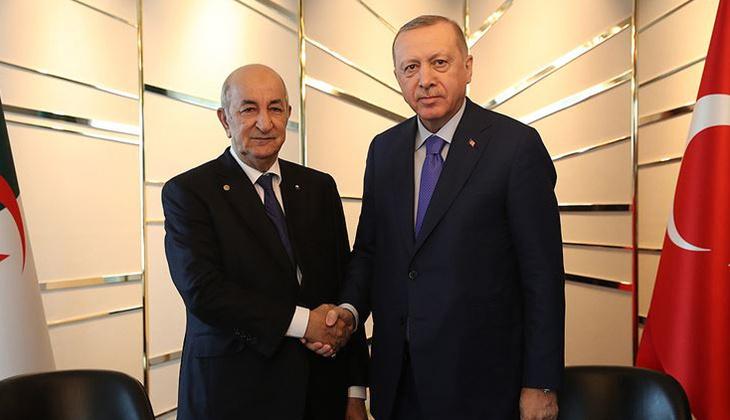 Son dakika: Cumhurbaşkanı Erdoğan, Cezayir Cumhurbaşkanı Tebbun ile görüştü