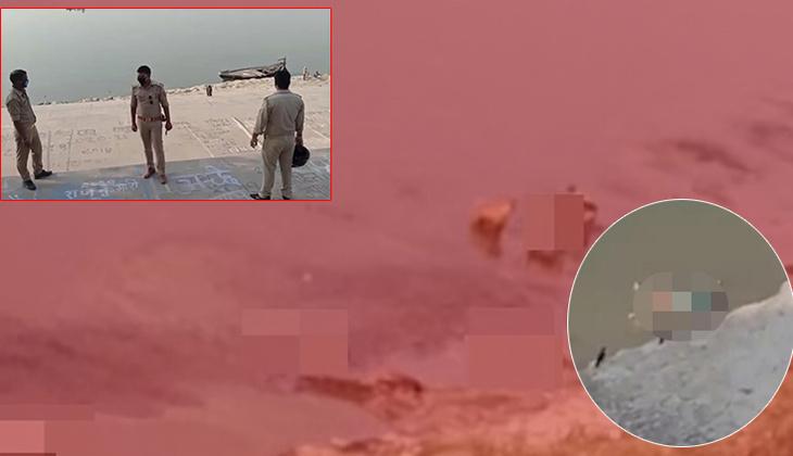 Hindistan'da salgın cehenneme dönüştü: Nehre atılan cesetleri ağlarla topluyorlar!