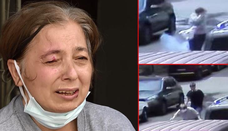 Gülizar Özkurt'un gözüne maytap isabet etti, ortalık karıştı! Gözaltına alındı