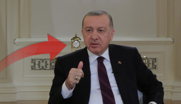Cumhurbaşkanı Erdoğan'ın katıldığı televizyon programındaki saatte '09.05' detayı