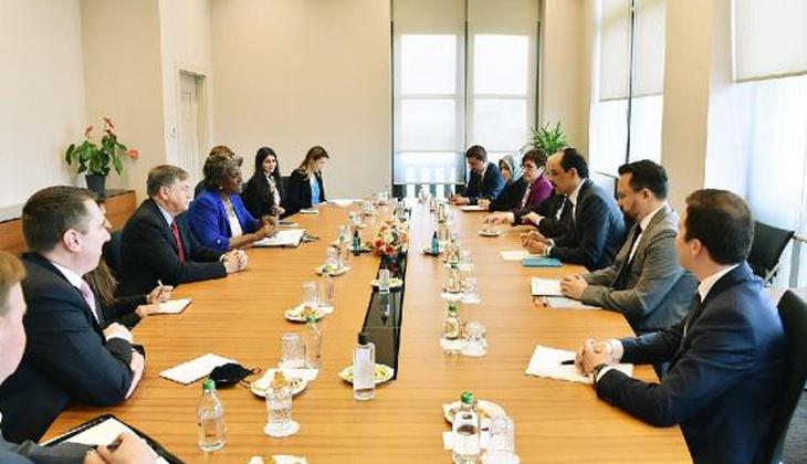 Son dakika: Cumhurbaşkanlığı Sözcüsü Kalın, ABD'nin BM Daimi Temsilcisi Greenfield ile görüştü