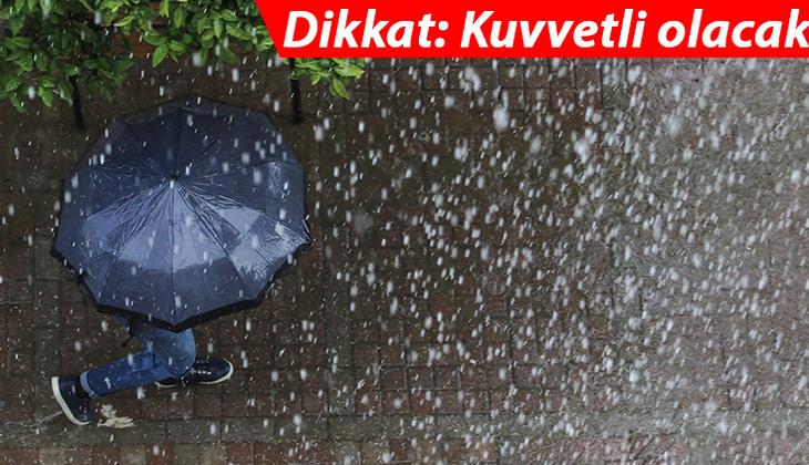 Son dakika: Meteoroloji'den İstanbul'a gök gürültülü sağanak uyarısı!