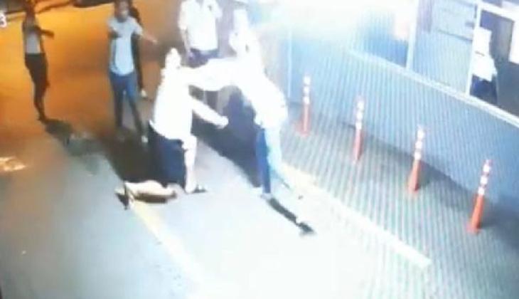 Zorbanın görüntüleri çıktı! Kuryeyi dövüp polisi bıçaklamıştı