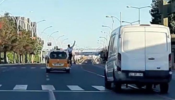 Diyarbakır'da trafikte tehlikeli yolculuk! Cezası ağır oldu