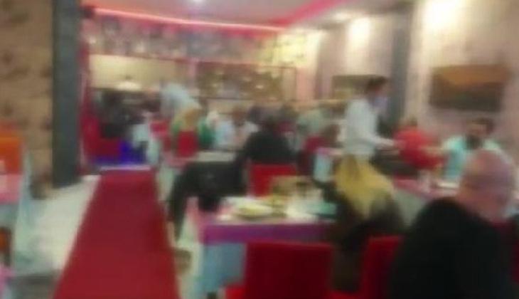 Kartal'da kıraathane ve restorana koronavirüs baskını!