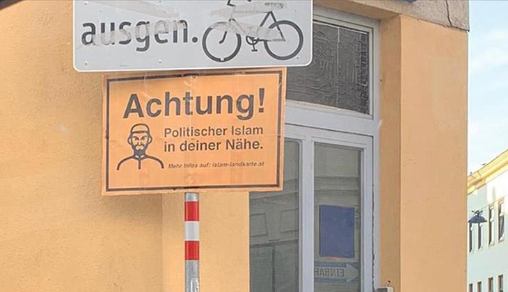 Avusturya'da ırkçı saldırılar arttı... Sebebi ise Müslümanlara ait kurumların 'fişlendiği harita'
