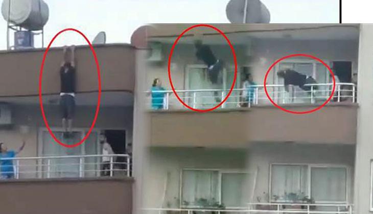 Ölümden kıl payı kurtuldu! 5 katlı binada korku dolu anlar