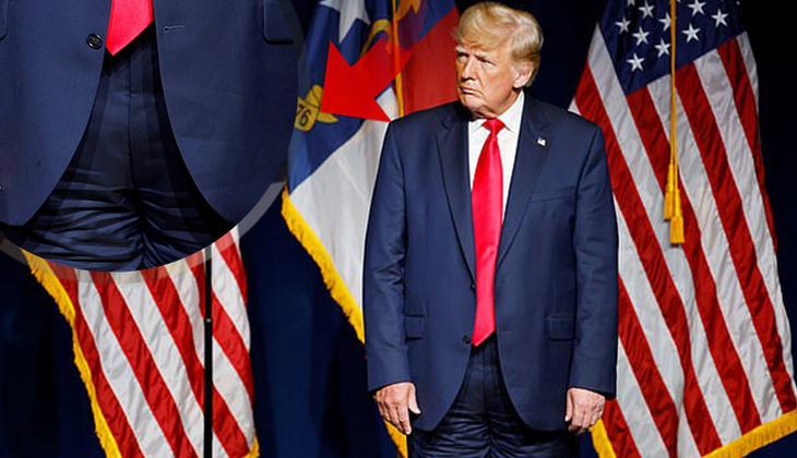 Dünya bu kareyi konuşuyor... Trump sahneye pantolonunu ters giyerek çıktı
