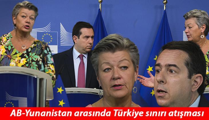 """Son dakika haberi... Basın toplantısında gergin anlar: AB-Yunanistan arasında Türkiye sınırındaki """"ses topu"""" tartışması!"""