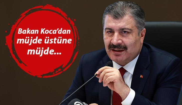 Son dakika: Sağlık Bakanı Koca 'Artık iyice hızlandık' mesajıyla duyurdu! Bir müjde daha