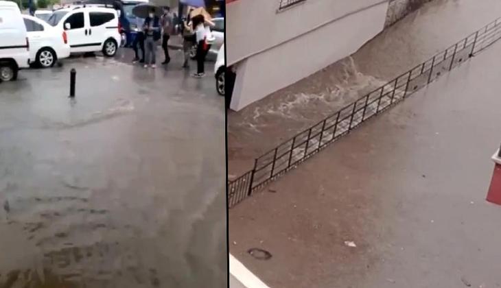 Ankara'da yoğun sağanak! Cadde ve sokaklar göle döndü