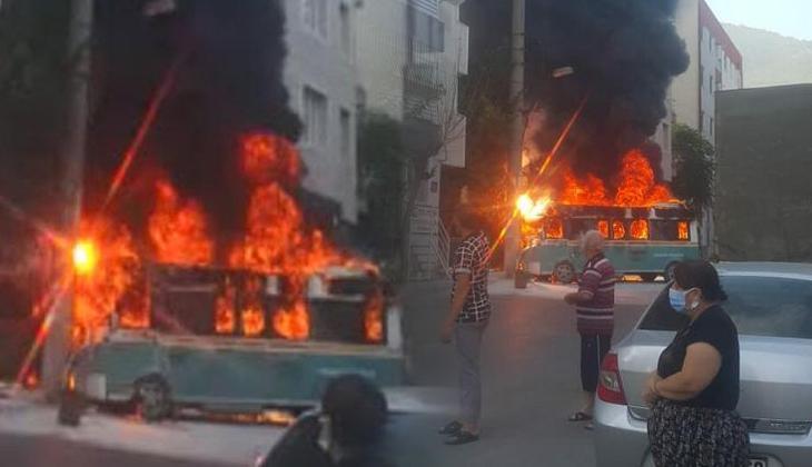 İzmir'de korku dolu anlar! Alev alev yandı... Yaralılar var