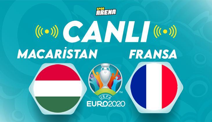 Canlı Anlatım: Macaristan Fransa (EURO 2020 maçı)