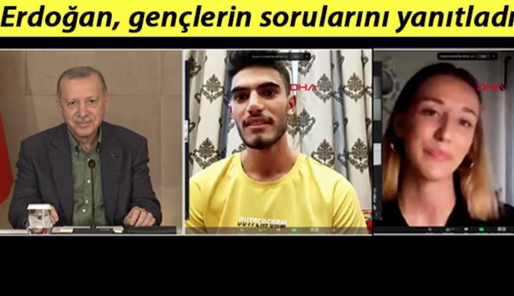 Son dakika... Cumhurbaşkanı Erdoğan, gençlerle buluştu, sorularını yanıtladı