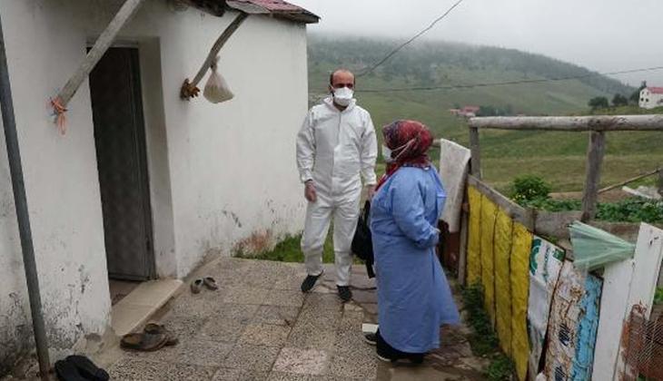 Karadeniz yaylalarında 'aşı' mesaisi! Kapı kapı dolaştılar